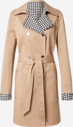Cappotto di mezza stagione 'SANDRA' GUESS di colore marrone chiaro / nero / bianco, Visualizzazione prodotti