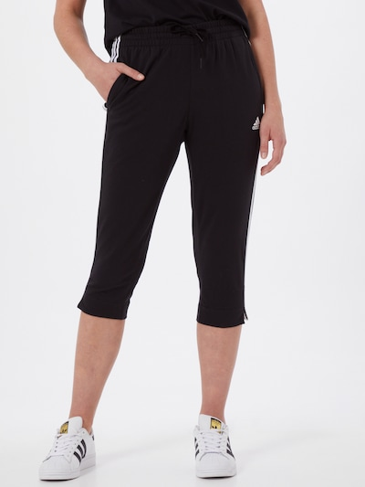 ADIDAS PERFORMANCE Sporthose in schwarz / weiß: Frontalansicht