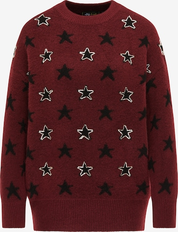 myMo at night Pullover in Rot