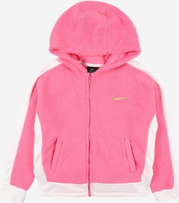 NIKE Sports sweat jacket in Pink