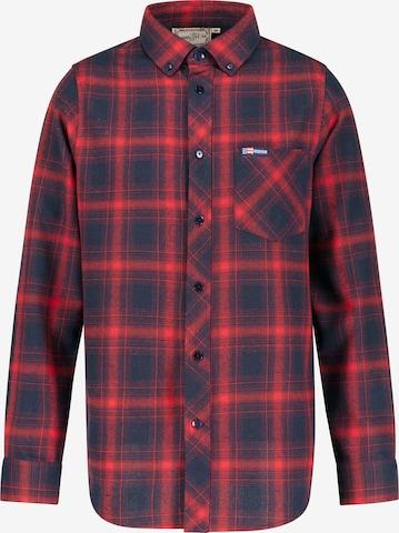 GOODYEAR Langarmhemd 'Denali' in Rot