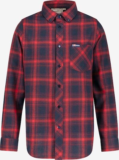 GOODYEAR Langarmhemd 'Denali' in navy / rot, Produktansicht
