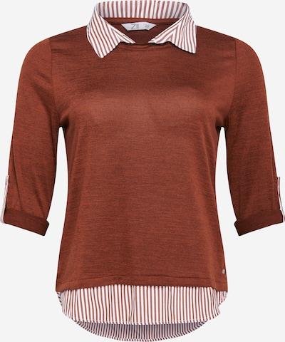 Z-One Shirt 'Linda' in braun / weiß, Produktansicht