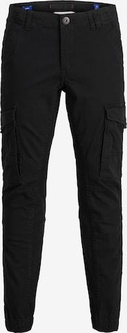 Jack & Jones Junior Trousers 'Paul Flake Akm' in Black