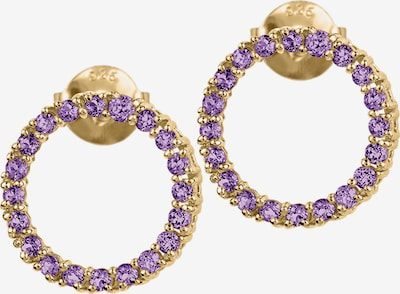 Jacques Lemans Earrings in Gold / Neon purple, Item view
