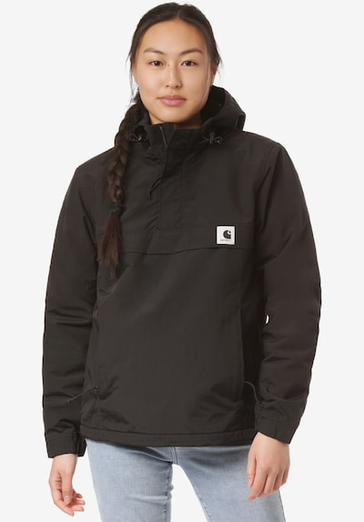 Carhartt WIP Funkcionalna jakna 'W' Nimbus'   črna barva: Frontalni pogled