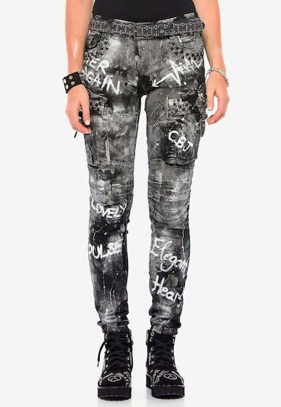 CIPO & BAXX Jeanshose 'WD397' in schwarz, Modelansicht