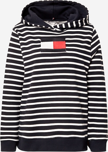 TOMMY HILFIGER Sweatshirt in Dark blue / Fire red / White, Item view