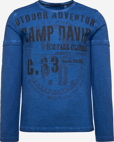 CAMP DAVID Langarmshirt Oil Dyed mit Artwork in blau, Produktansicht