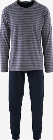 Phil & Co. Berlin Pyjama long ' Special Phil ' en bleu marine / gris, Vue avec produit