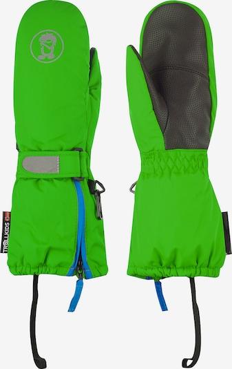 TROLLKIDS Sporthandschuhe in grau / grün, Produktansicht