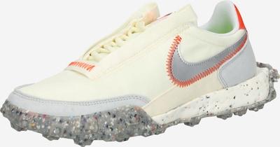 Nike Sportswear Sneaker 'Waffle Racer Crater' in silbergrau / orange / weiß, Produktansicht