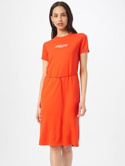 Calvin Klein Letné šaty - oranžovo červená / biela, Model/-ka