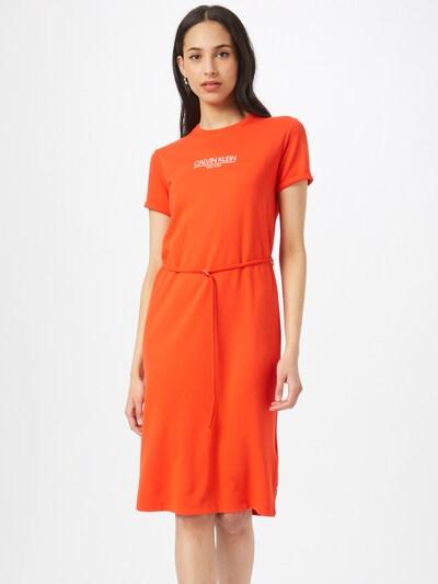 Calvin Klein Zomerjurk in de kleur Oranjerood / Wit, Modelweergave