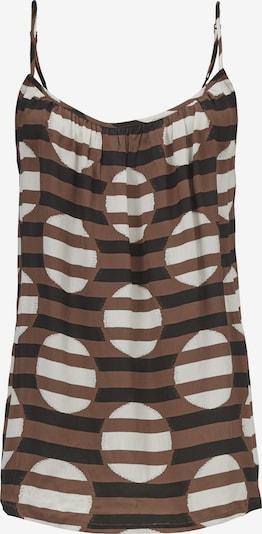 Masai Top in braun / schwarz / weiß, Produktansicht