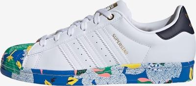 ADIDAS ORIGINALS Sneaker 'Superstar' in blau / grün / pink / schwarz / weiß, Produktansicht