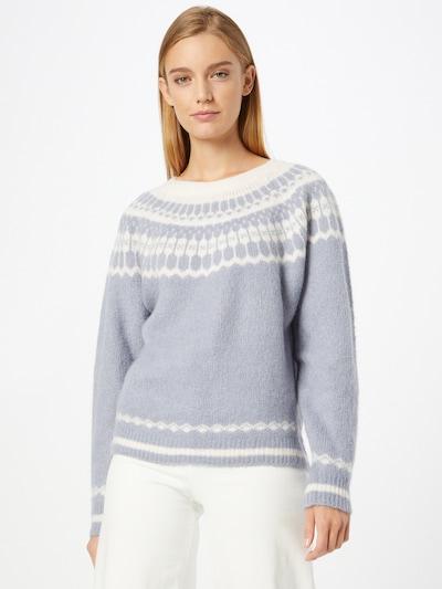 Lollys Laundry Pullover 'Lana' in rauchblau / weiß, Modelansicht