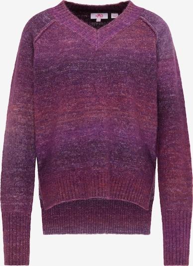 MYMO Pullover in beigemeliert / dunkellila / orangemeliert, Produktansicht