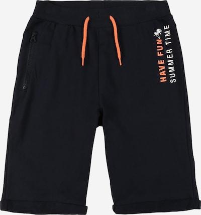 Guppy Pantalon 'FRANKY' en bleu cobalt / orange / blanc, Vue avec produit