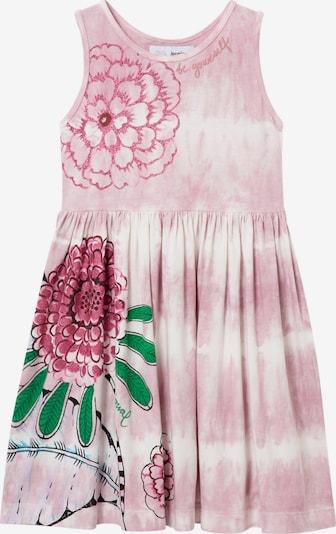Desigual Vestido 'Valentina' en verde hierba / rosa / pitaya / burdeos / blanco, Vista del producto