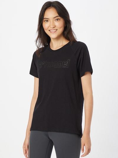 Hummel Sporta krekls, krāsa - pelēks / melns: Priekšējais skats