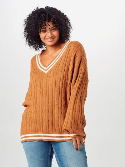 Urban Classics Pullover in braun / weiß, Modelansicht