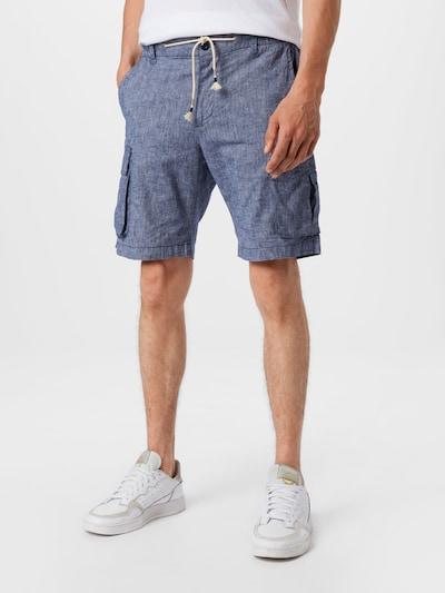 JACK & JONES Pantalon cargo en bleu chiné, Vue avec modèle