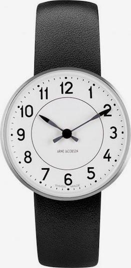 Arne Jacobsen Uhr in schwarz / silber / weiß, Produktansicht