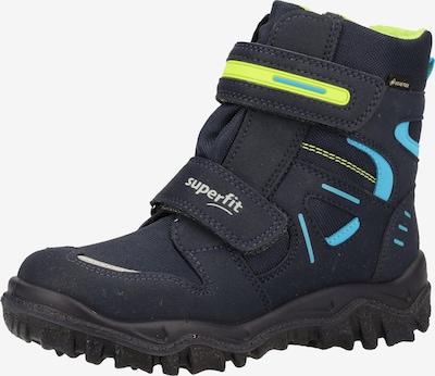 SUPERFIT Čizme za snijeg 'HUSKY' u mornarsko plava / neonsko plava / limeta zelena, Pregled proizvoda