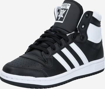 melns ADIDAS ORIGINALS Brīvā laika apavi 'Top Ten'
