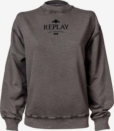 REPLAY Sweatshirt in Grey / Black, Item view