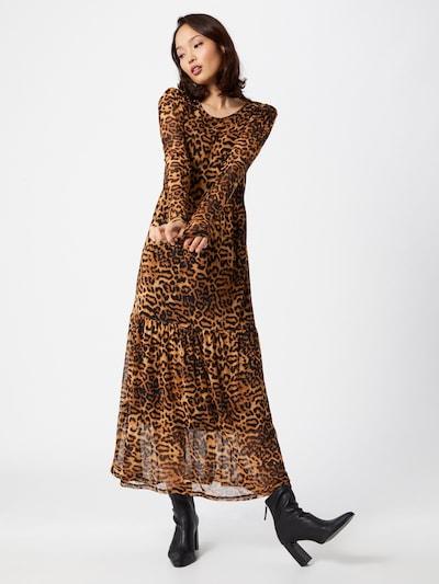 Freequent Kleid 'Sammi' in sand / braun / schwarz, Modelansicht