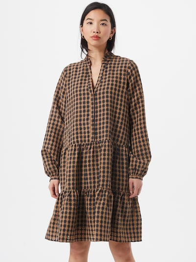 Neo Noir Kleid 'Federica Airy' in camel / schwarz, Modelansicht