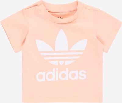 ADIDAS ORIGINALS Тениска в праскова / бяло, Преглед на продукта