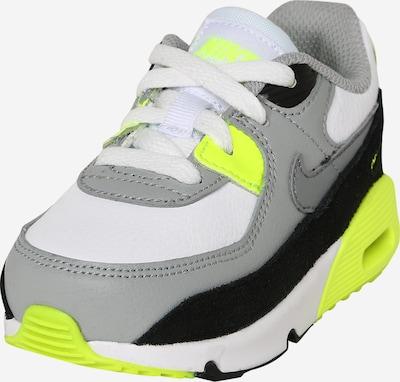 Nike Sportswear Tenisice 'Air Max 90' u siva / neonsko zelena / crna / bijela, Pregled proizvoda
