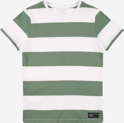 NAME IT Shirt 'SANDVO' in dunkelgrün / weiß, Produktansicht