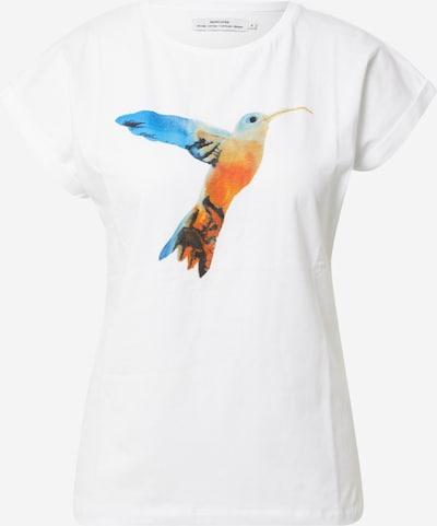 DEDICATED. T-shirt 'Visby' en bleu / orange foncé / noir / blanc, Vue avec produit