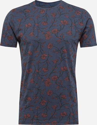 !Solid Shirt in taubenblau / pastellrot / schwarz, Produktansicht