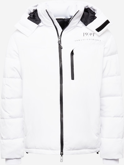 ARMANI EXCHANGE Starpsezonu jaka, krāsa - melns / balts, Preces skats