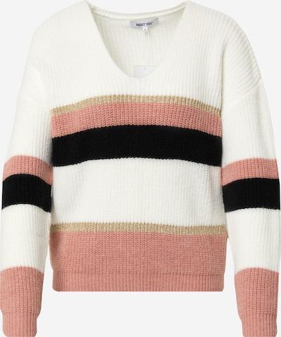 ABOUT YOU Trui 'Leona Jumper' in de kleur Crème / Goud / Rosa / Zwart, Productweergave