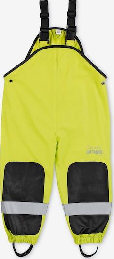 STERNTALER Latzhose in neongrün / schwarz / silber, Produktansicht