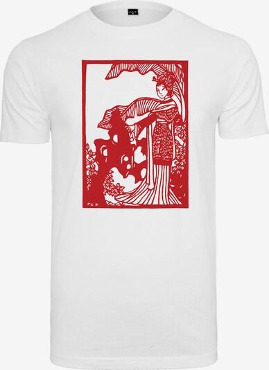 Tricou 'Chinese Beauty' Merchcode pe roșu / alb, Vizualizare produs