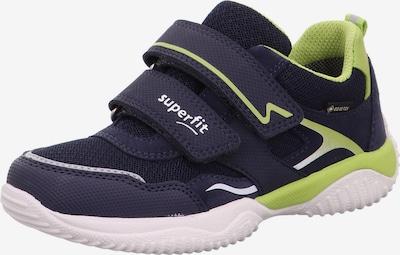 SUPERFIT Baskets 'STORM' en bleu marine / vert clair / blanc, Vue avec produit