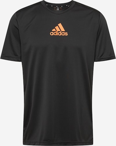 ADIDAS PERFORMANCE Functioneel shirt in de kleur Sinaasappel / Zwart, Productweergave