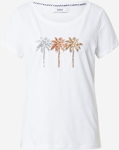 ONLY T-Shirt 'KITA' in gold / silber / weiß, Produktansicht