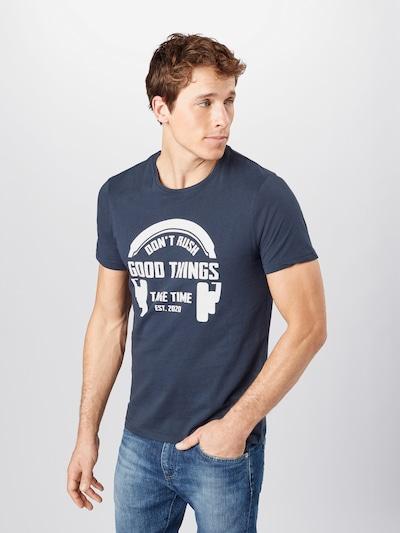 !Solid Shirt 'Manuk' in de kleur Navy / Wit: Vooraanzicht