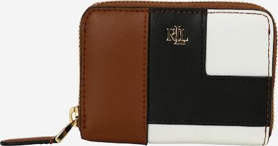 Lauren Ralph Lauren Plånbok i brun / svart / vit, Produktvy
