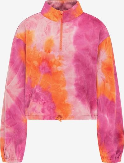 myMo ATHLSR Sweat de sport en orchidée / orange fluo / rose / blanc, Vue avec produit