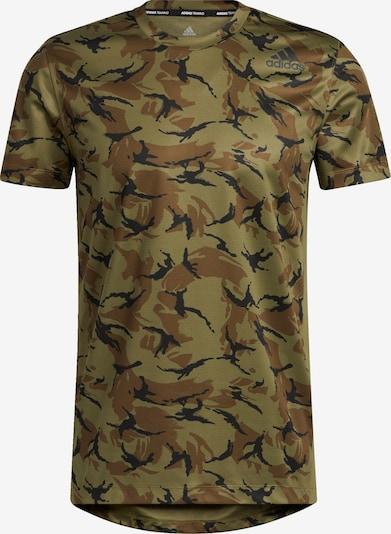 ADIDAS PERFORMANCE Functioneel shirt in de kleur Bruin / Grijs / Groen / Zwart, Productweergave