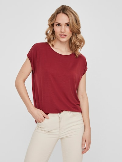 Vero Moda Aware T-Shirt 'VMAVA' in rot: Frontalansicht